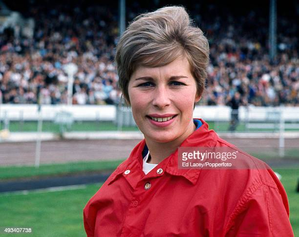 Mary Rand Great Britain track and field athlete at White City in London on 28th August 1965