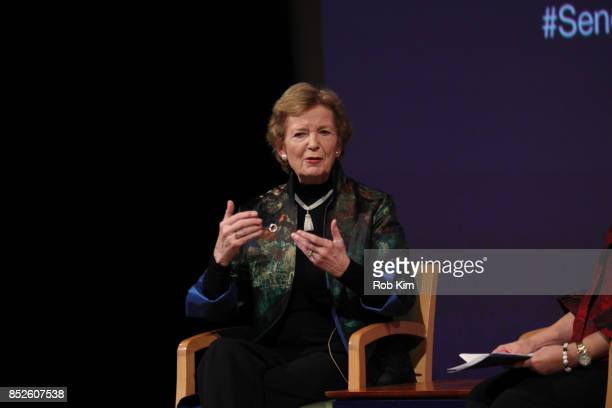 Mary Robinson former President of Ireland and President The Mary Robinson Foundation Climate Justice attends Fast Forward Women's Innovation Forum at...