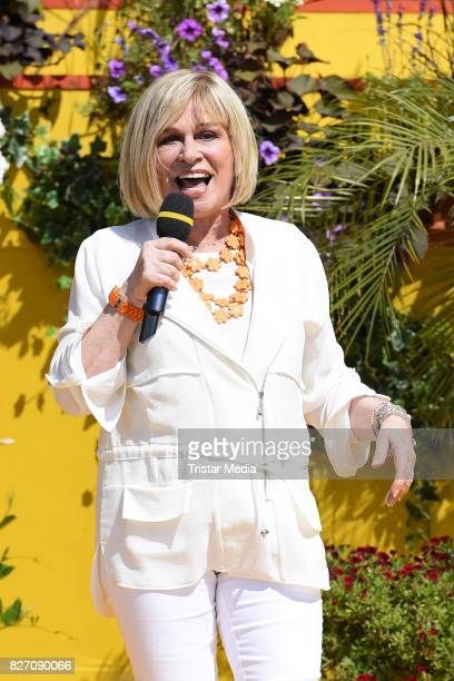 Mary Roos during the ARD Live TV Show 'Immer Wieder Sonntags' at EuropaPark on August 6 2017 in Rust Germany