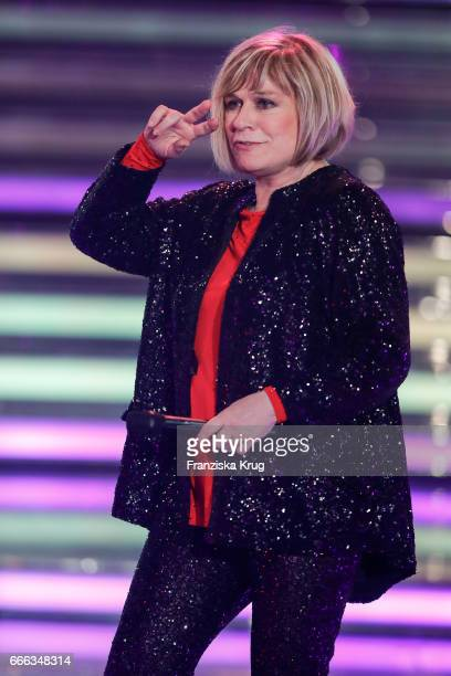 Mary Roos during the television show 'Willkommen bei Carmen Nebel' on April 8 2017 in Magdeburg Germany