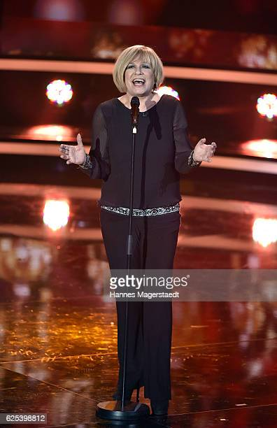 Mary Roos during the tv show 'Heiligabend mit Carmen Nebel' on November 23 2016 in Munich Germany The show will air on December 24 2016