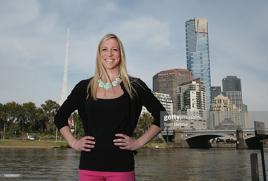 Mary Saxer of the United States of America poses during the John Landy Lunch on April 5, 2013 in Melbourne, Australia. Saxer will compete in the Qantas Melbourne World Challenge.