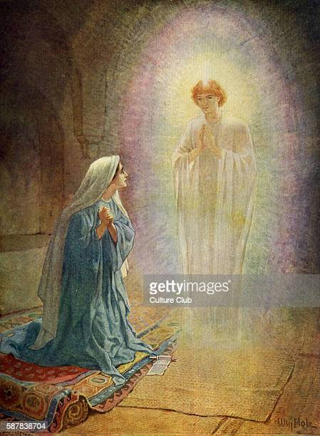 Mary sees the angel Gabriel In the sixth month God sent the angel Gabriel to Nazareth a town in Galilee Luke I 2628