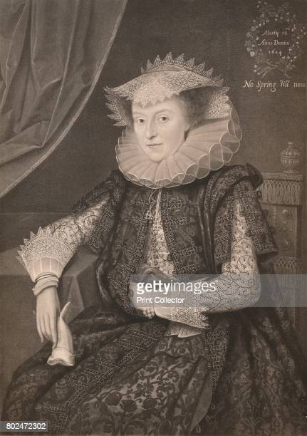 Mary Sidney Countess of Pembroke' Mary Herbert Countess of Pembroke influential English poet From James I and VI by T F Henderson [Goupil Co Paris...