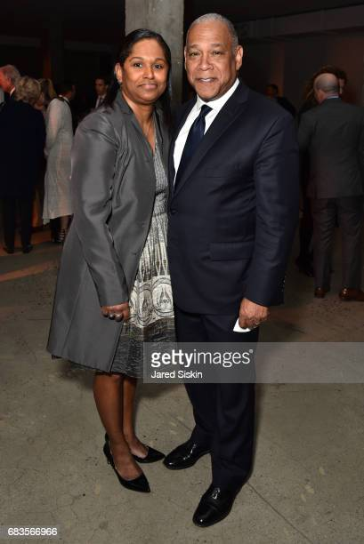 Mary Silver and Mitchell Silver attend The 2017 High Line Spring Benefit at Skylight Modern on May 15 2017 in New York City