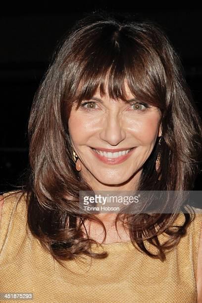 Mary Steenburgen poses for the cameras after her performance at Vibrato Bar Grill on November 24 2013 in Los Angeles California