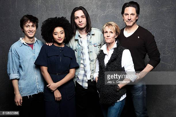 Mary Stuart Masterson Amandla Stenberg Scott Cohen Owen Campbell and Miles JorisPeyrafitte from the film 'As You Are' pose for a portrait at the 2016...