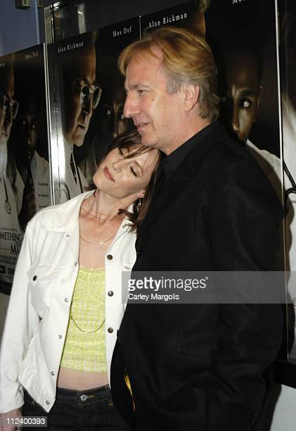 Mary Stuart Masterson and Alan Rickman during 'Something The Lord Made' New York Premiere at Paris Theatre in New York City New York United States