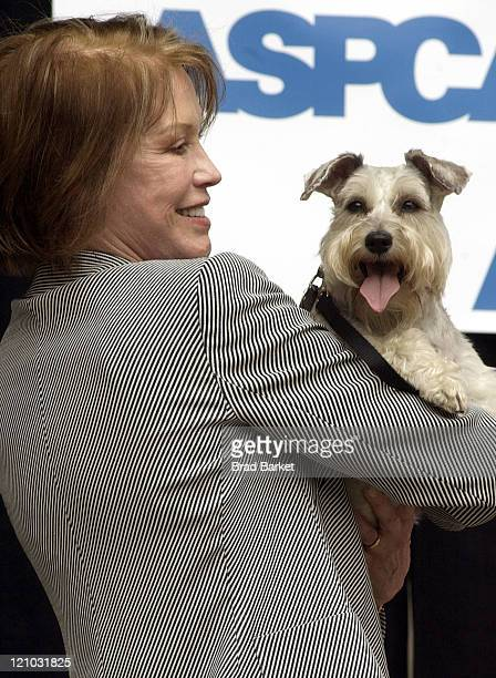 Mary Tyler Moore during ASPCA Announces $5 Million Commitment to Mayor's Alliance for NYC's Animals INC at Central Park Band Shell in New York City...