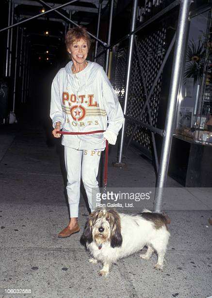Mary Tyler Moore during Mary Tyler Moore Sighting on Madison Ave in New York City August 29 1995 at Madison Avenue in New York City New York United...