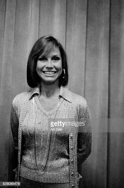 Mary Tyler Moore wearing a sweater set circa 1960 New York