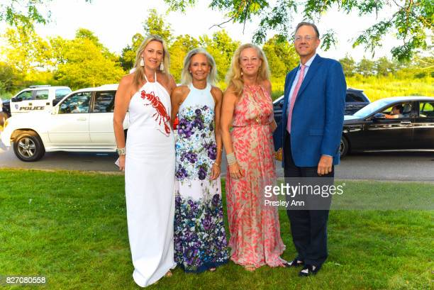 Mary Unsworth Allison Morrow Lisa Arnold and Rome Arnold attend Southampton Hospital 59th Annual Summer Party on August 5 2017 in Southampton New York