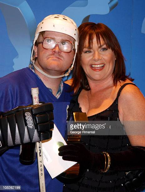 Mary Walsh and Bobb Wells during 2003 18th Annual Gemini Awards Press Room at Metro Toronto Convention Centre in Toronto Ontario Canada