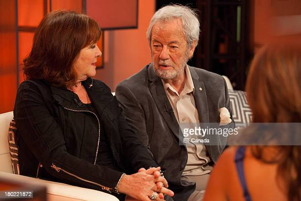Mary Walsh and Gordon Pinsent visit the ET Canada Festival Central Lounge at the 2013 Toronto International Film Festival on September 9 2013 in...
