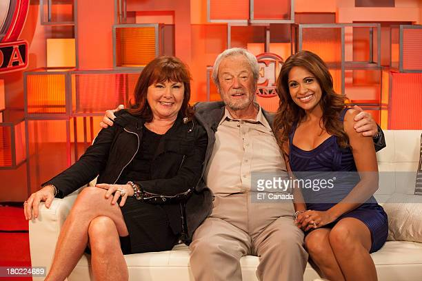 Mary Walsh Gordon Pinsent and Sangita Patel in the ET Canada Festival Central Lounge at the 2013 Toronto International Film Festival on September 9...