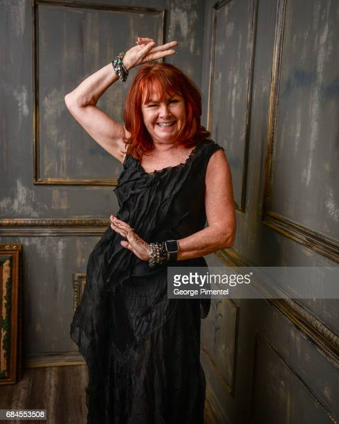Mary Walsh poses in the 2017 Biblio Bash Portrait Studio at the Toronto Reference Library on April 27 2017 in Toronto Canada