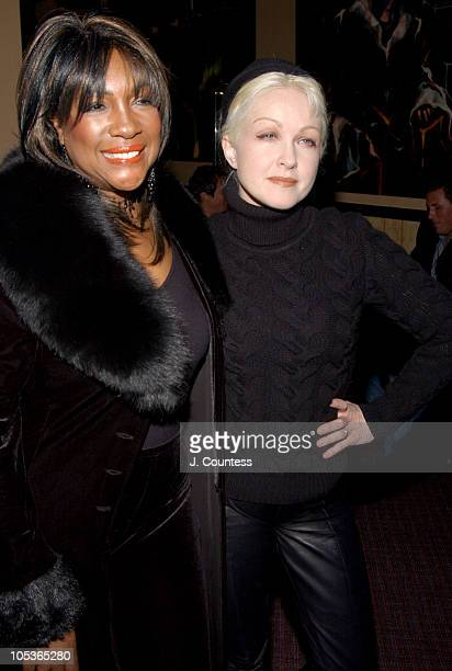 Mary Wilson and Cyndi Lauper during DVD Release Party for 'Only The Strong Survive' at The Cutting Room in New York City NY United States