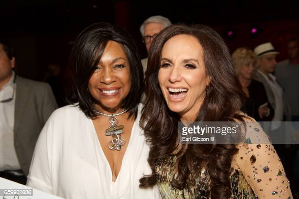 Mary Wilson and Deborah Silver pose for a photo after Deborah Silver's performance at Catalina Jazz Club Bar Grill on March 28 2017 in Hollywood...