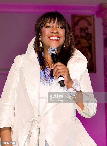 Mary Wilson of the Supremes performs at 'The Story Of The Supremes' private view at the Victoria Albert Museum on May 12 2008 in London England