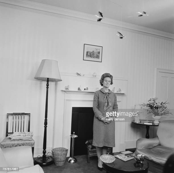 Mary Wilson poet and wife of British Prime Minister Harold Wilson in a sitting room at number 10 Downing Street London 18th November 1964