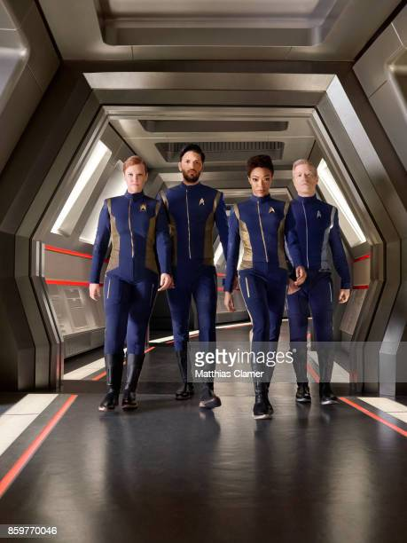 Mary Wiseman Shazad Latif Sonequa MartinGreen and Anthony Rapp from Star Trek Discovery are photographed for Entertainment Weekly Magazine on July 9...
