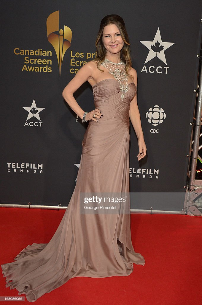 Mary Zilba arrives at the Canadian Screen Awards at the Sony Centre for the Performing Arts on March 3, 2013 in Toronto, Canada.