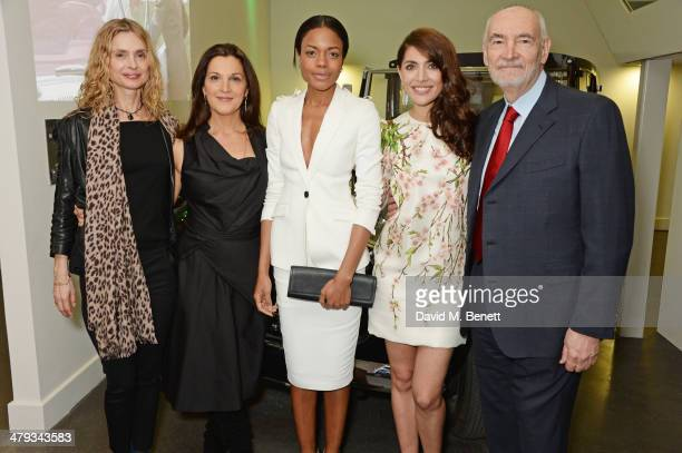 Maryam d'Abo Barbara Broccoli Naomie Harris Caterina Murino and Michael G Wilson attend the 'Bond In Motion' photocall at the London Film Museum on...