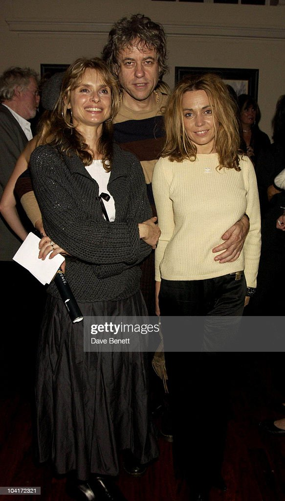 Maryam D'Abo With Bob Geldof And Jeanne Marine, Bond Girls Are Forever Book Launch At Osla Restaurant, In Haymarket, London