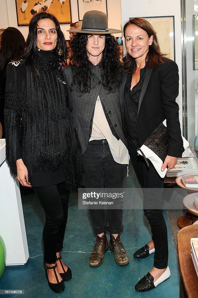 Maryam Malakpour, Amanda Demme and Marjan Malkapour attend Director's Circle Celebrates Wear LACMA, Sponsored By NET-A-PORTER And W at LACMA on April 24, 2013 in Los Angeles, California.