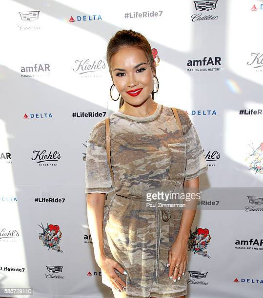 Maryam Maquillage attends the Kiehl's 7th Annual LifeRide For amfAR at the Kiehl's NYC flagship store on August 3 2016 in New York City