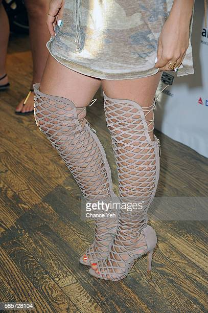 Maryam Maquillage shoe detail attends 7th annual LifeRide for amfAR at Kiehl's Since 1851 Flagship Store on August 3 2016 in New York City