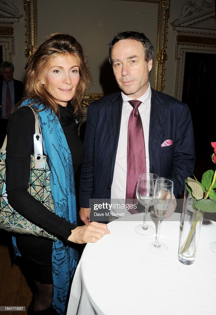 Maryam Sachs (L) and Lionel Barber, Editor of the Financial Times, attend as Charles Saumarez Smith, Chief Executive of the Royal Academy of Arts, launches his new book 'The Company Of Artists: The Origins Of The Royal Academy Of Arts In London' at The Royal Academy of Arts on October 15, 2012 in London, England.