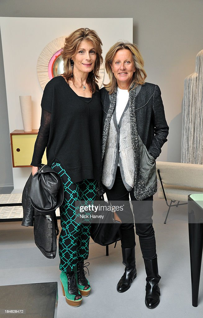 Maryam Sachs and Princess Chantal of Hanover attends the collectors preview for PAD London at Berkeley Square Gardens on October 14, 2013 in London, England.