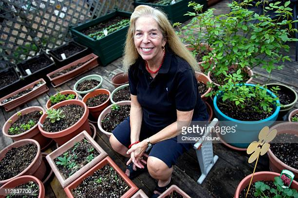 MaryAnne Spinner poses for a portrait in the backyard of her Lincoln Park apartment May 1 in Chicago Illinois Spinner was standing on the garagetop...