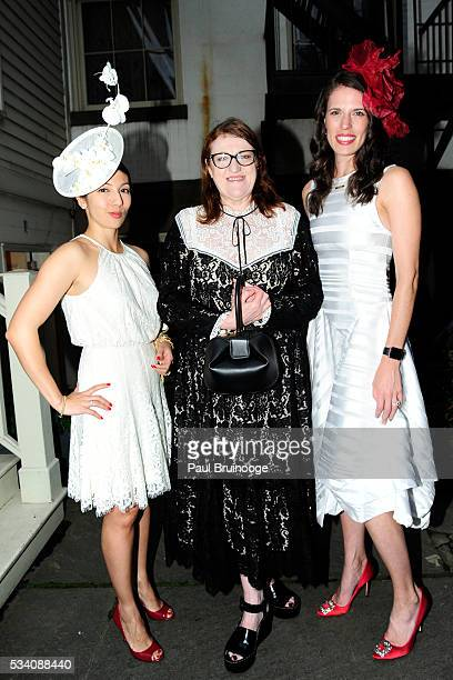 MaryElizabeth Walker guest and Glenda Bailey attend Historic Royal Palaces Patrons Secret Garden Party at Merchant's House Museum on May 24 2016 in...
