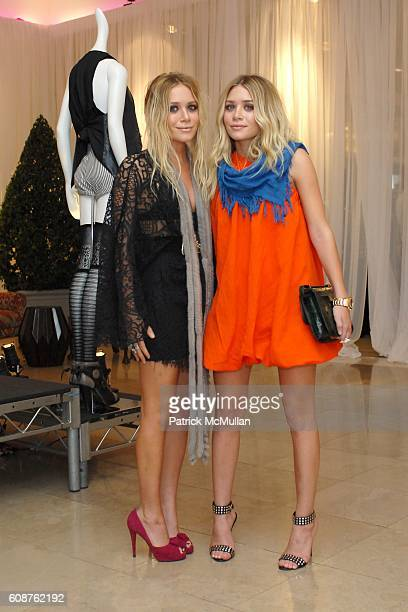 MaryKate Olsen and Ashley Olsen attend Designers MaryKate Olsen and Ashley Olsen for Elizabeth and James at Neiman Marcus on October 18 2007 in Los...