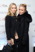 MaryKate Olsen and Ashley Olsen attend the CFDA 2013 Awards Nomination event on March 13 2013 in New York City