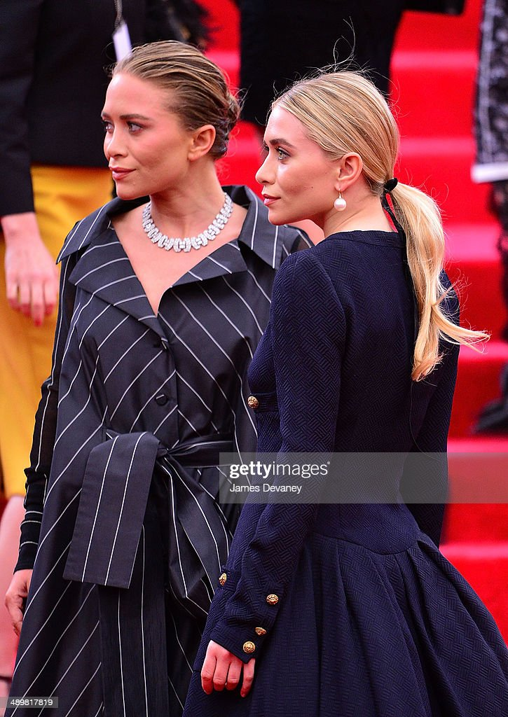 Mary-Kate Olsen and Ashley Olsen attend the 'Charles James: Beyond Fashion' Costume Institute Gala at the Metropolitan Museum of Art on May 5, 2014 in New York City.