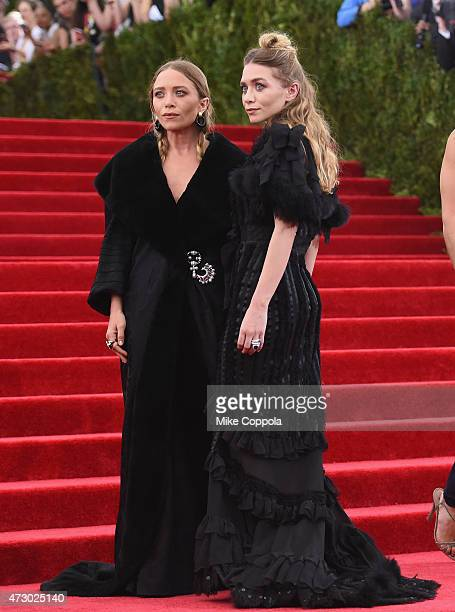 MaryKate Olsen and Ashley Olsen attend the 'China Through The Looking Glass' Costume Institute Benefit Gala at the Metropolitan Museum of Art on May...