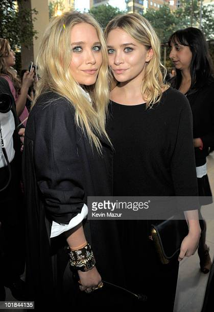MaryKate Olsen and Ashley Olsen attends the 2010 CFDA Fashion Awards at Alice Tully Hall Lincoln Center on June 7 2010 in New York City
