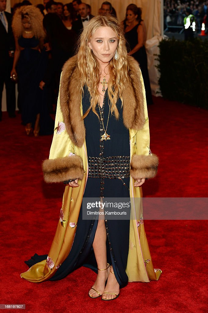 Mary-Kate Olsen attends the Costume Institute Gala for the 'PUNK: Chaos to Couture' exhibition at the Metropolitan Museum of Art on May 6, 2013 in New York City.