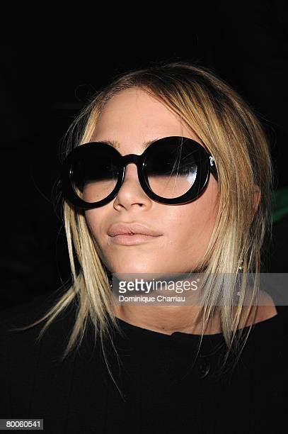 MaryKate Olsen attends the Giambattista Valli fashion show during Paris Fashion Week Fall/Winter 2008/2009 at espace Eiffel on February 28 2008 in...