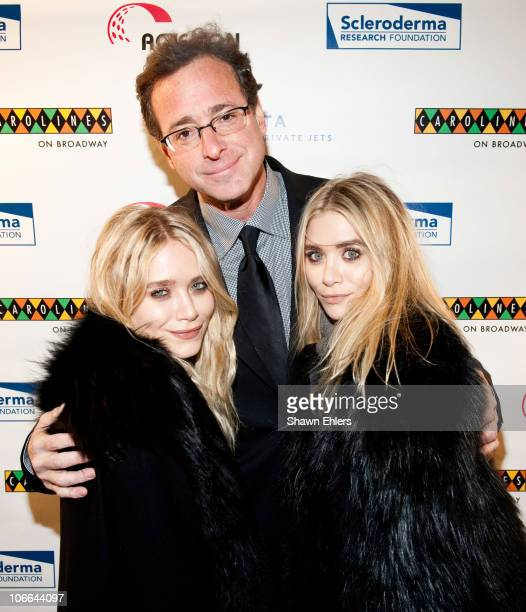 MaryKate Olsen comedian Bob Saget and Ashley Olsen attend Stand Up For Scleroderma at Carolines On Broadway on November 8 2010 in New York City