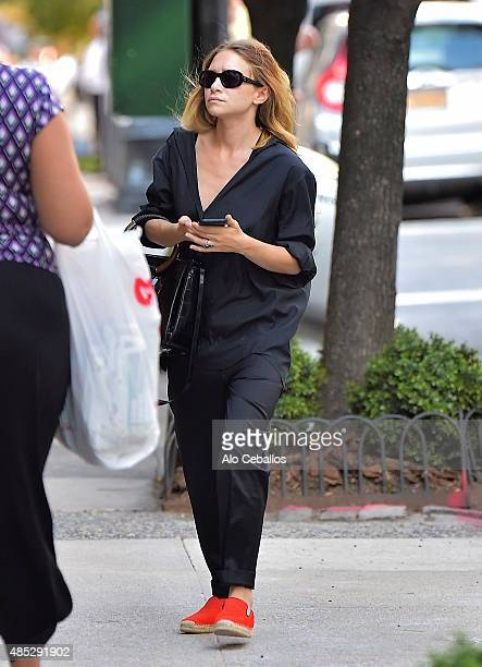 MaryKate Olsen is seen on the Upper East Side on August 26 2015 in New York City