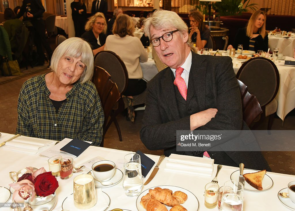 Mary-Kay Wilmers (L) and Jeremy Paxman attend the Hoping Breakfast for Palestinian refugee children at Harrods on February 9, 2016 in London, England.