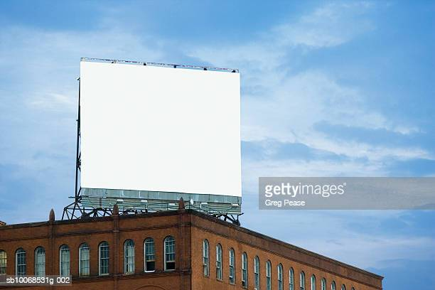 USA, Maryland, Baltimore, Billboard on Copycat building, low angle view