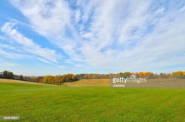 Maryland granja en otoño