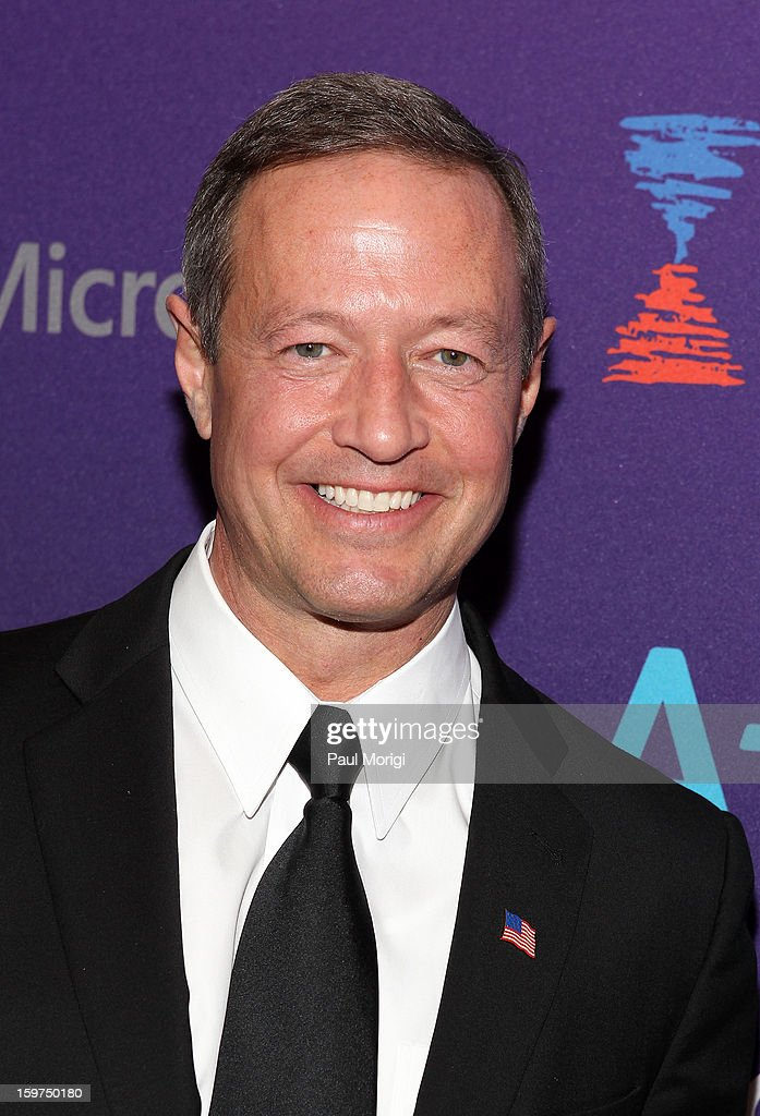 Maryland Gov. <a gi-track='captionPersonalityLinkClicked' href=/galleries/search?phrase=Martin+O%27Malley&family=editorial&specificpeople=653318 ng-click='$event.stopPropagation()'>Martin O'Malley</a> attends the OurTime.org Hosts Inaugural Youth Ball on January 19, 2013 in Washington, DC.