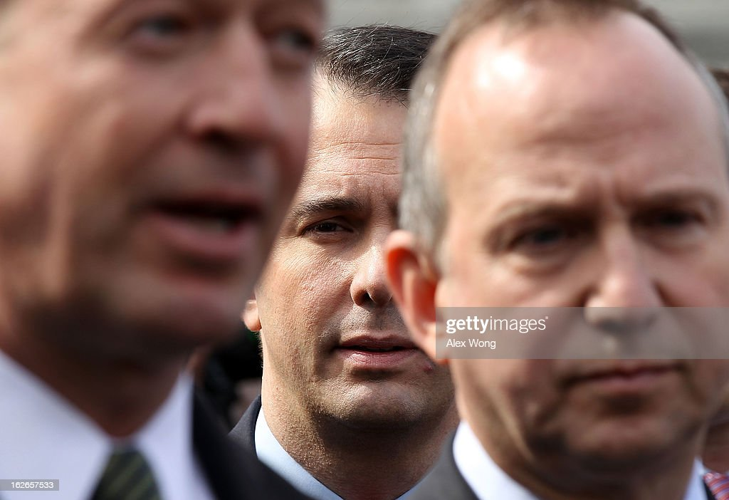 Maryland Gov. <a gi-track='captionPersonalityLinkClicked' href=/galleries/search?phrase=Martin+O%27Malley&family=editorial&specificpeople=653318 ng-click='$event.stopPropagation()'>Martin O'Malley</a> speaks as Wisconsin Gov. <a gi-track='captionPersonalityLinkClicked' href=/galleries/search?phrase=Scott+Walker+-+Politician&family=editorial&specificpeople=7511934 ng-click='$event.stopPropagation()'>Scott Walker</a>, and National Governors Association (NGA) Chair Delaware Gov. Jack Markell listen as they speak to members of the press after a State Dining Room meeting with U.S. President Barack Obama at the White House February 25, 2013 in Washington, DC. Governors from across the nation were in Washington for the 2013 National Governors Association Winter Meeting.