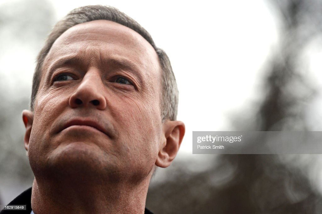Maryland Gov. <a gi-track='captionPersonalityLinkClicked' href=/galleries/search?phrase=Martin+O%27Malley&family=editorial&specificpeople=653318 ng-click='$event.stopPropagation()'>Martin O'Malley</a> waits to speak to advocates of stricter gun control laws as they rally at the Maryland State House on March 1, 2013 in Annapolis, Maryland. Earlier this week, the Maryland Senate passed a gun control bill, which if passed in the House of Delegates, would require a license to purchase a handgun, ban the sale of assault-style rifles and limit magazine size, among other provisions.
